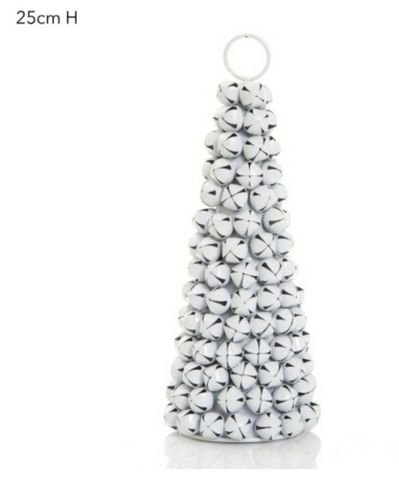 Jingle bell tree white 25cm