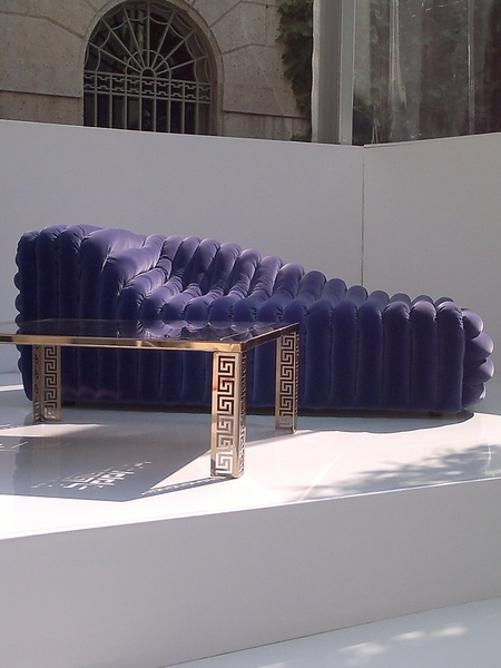 Purple Versace Bubble Sofa
