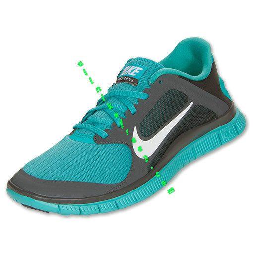 Nike Free 4.0 V3 Mens Midnight Fog White Sport Turquoise 579958 013