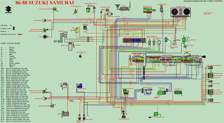samurai schematics for running without stock hitachi ... 87 suzuki samurai ignition wiring diagram #1
