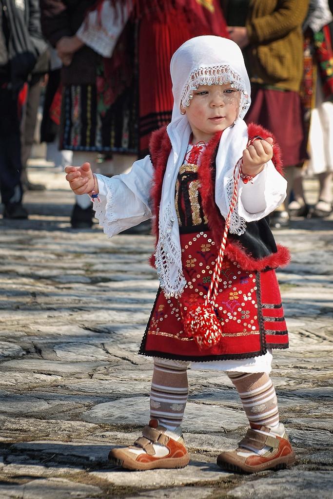 Bulgarian girl wiith martenitza #world #cultures