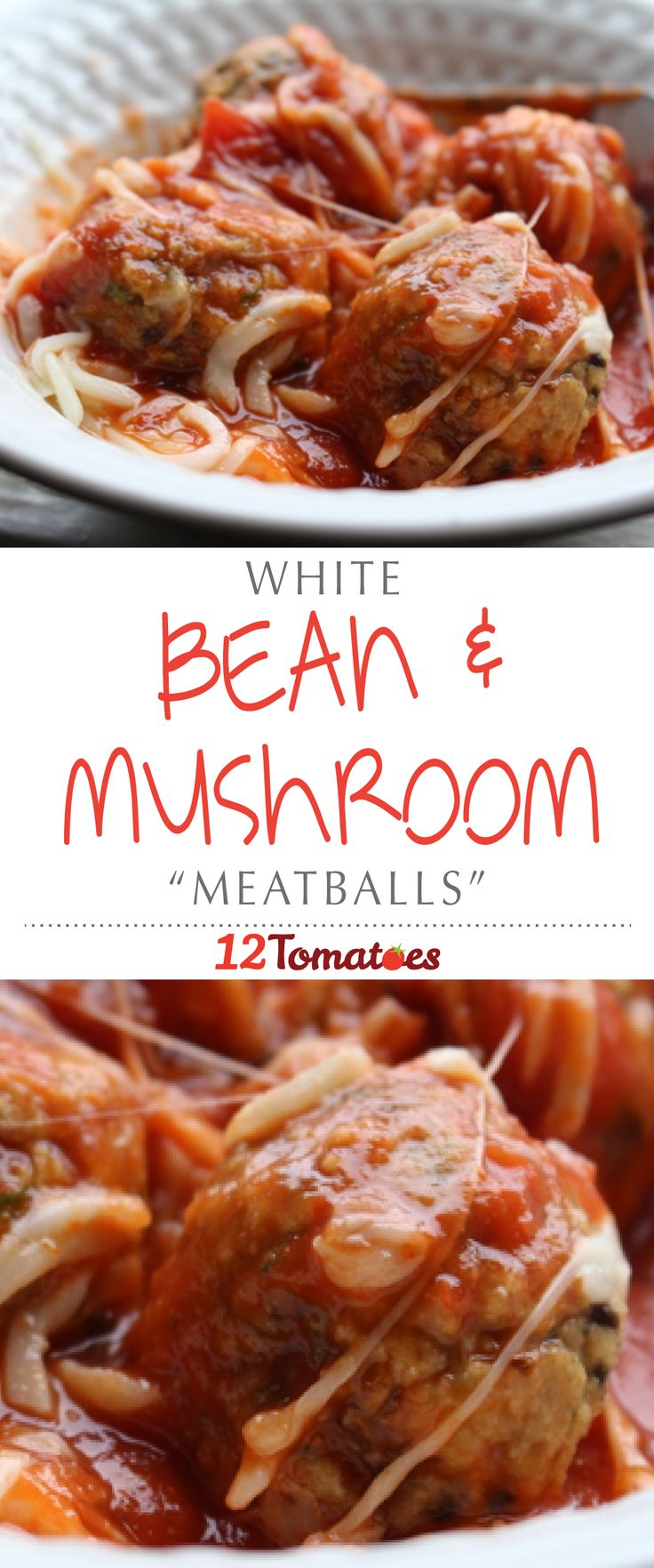 """White Bean & Mushroom """"Meatballs"""" 