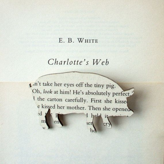 Charlotte's Web book brooches.
