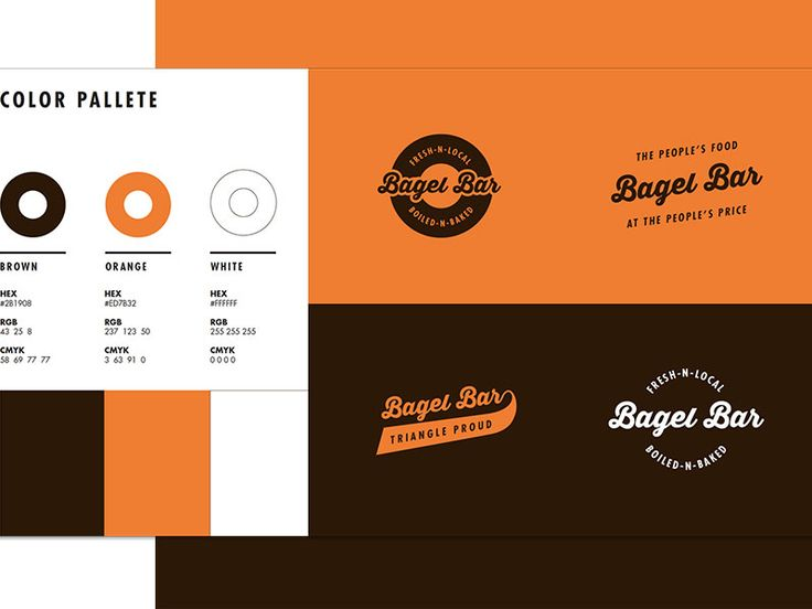 Bagel Bar Style Guide by Alex Bloom