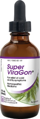 Super ViraGon® is designed to relieve the symptoms of colds and flu. It is a natural health supplement that may help manage many of the problems associated with those illnesses -- and may also help your body in rebuilding itself after exposure to hostile viruses, bacteria, fungi, and other pathogens. Colds and flus are not only inconvenient and uncomfortable, they can also be extremely dangerous.