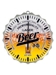 OF548-Bulk Buys OF548 Beer Bottle Cap Clock (Pack Of 1 ) Buy It In Bulk - Bringing the Warehouse Club experience straight to your door