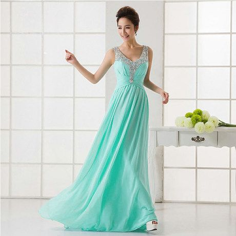 2014 new long sparkly sequin mint green bridesmaid dress under $ 50 (pink blue navy blue light pink coral colored ) US $49.99