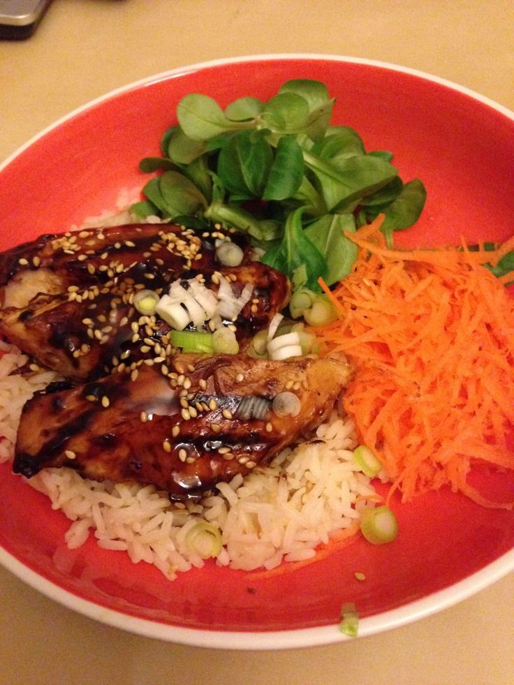 Teriyaki Chicken Donburi The Teriyaki Chicken Donburi is Wagamama's most simplest, healthiest and tastiest dishes. This lens is an outline of my recreation of this great recipe. It involves a mix of a Grilled Chicken marinaded in Sweet Teriyaki...