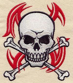 Tribal Skull and Crossbones design (UT1060) from UrbanThreads.com