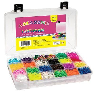 Other Kids Crafts 28145: Amazing Loom Bands Complete Collection Organizer Storage Kit, Includes 6,800 Ba -> BUY IT NOW ONLY: $34.99 on eBay!
