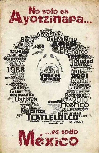 No olvidamos Ayotzinapa, tampoco olvidamos Tlatelolco, 10 _Junio 71, Aguas Blancas, Acteal, El Bosque, El Charco, Guardería ABC, Pasta de Conchos, San Fernando... ¡Basta de crímenes de Estado!