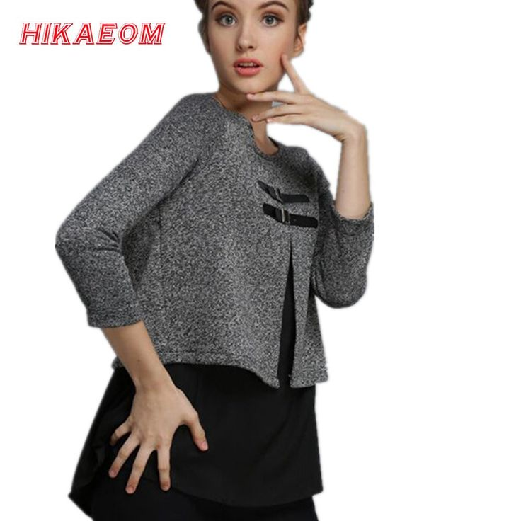 2017 women sweater Hitz middle-aged women's clothing large size fashion casual sweater