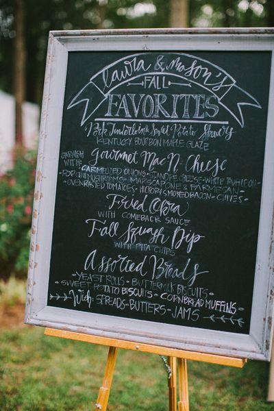 chalkboard menu | Paige Reaux #wedding