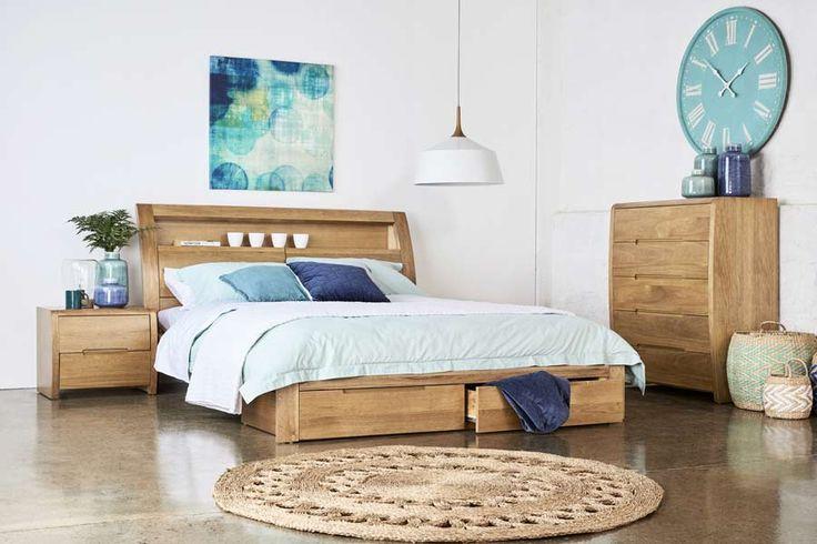 Linden Queen Timber Bed | Bedshed