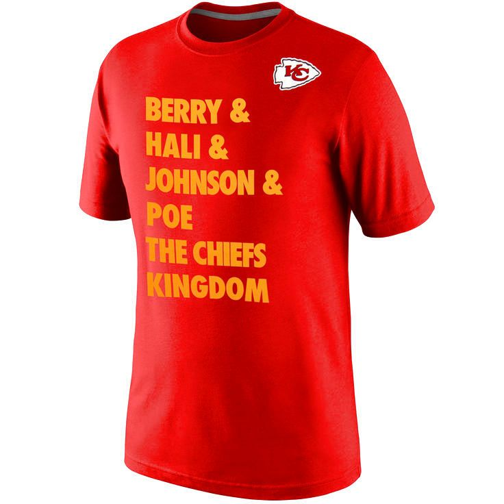 Nike Kansas City Chiefs Defense T-Shirt - Red/Gold - $21.84