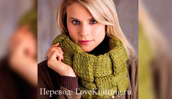 Плетеный шарф | Loveknitting.ru