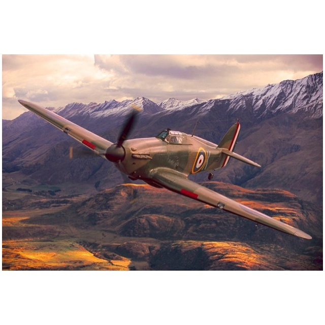 Hawker Hurricane over Wanaka at Warbirds Over Wanaka - Easter every second year in Lake Wanaka.