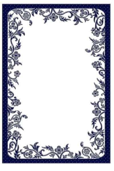 Large Dark Blue Transparent Frame