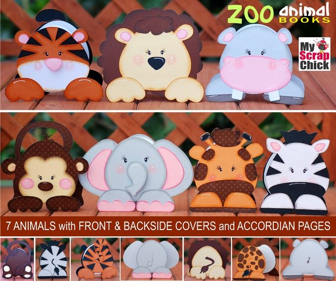 "My Scrap Chick Zoo Animal Books: look up under ""Zoo Animal Books"" or specific animal such as ""tiger animal book"""