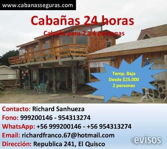 Arriendo de cabañas en El Quisco  Cabañas Seguras  Portal de Cabañas, Residenciales y H ..  http://el-quisco.evisos.cl/arriendo-de-cabanas-en-el-quisco-id-621029