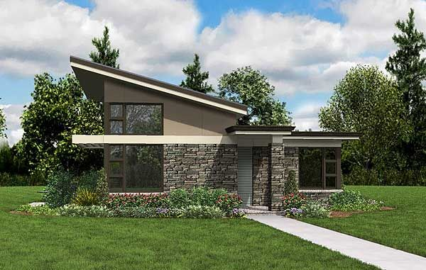 Impressive Contemporary Getaway - 69537AM | Modern, Prairie, Narrow Lot, 1st Floor Master Suite, Butler Walk-in Pantry, CAD Available, PDF | Architectural Designs