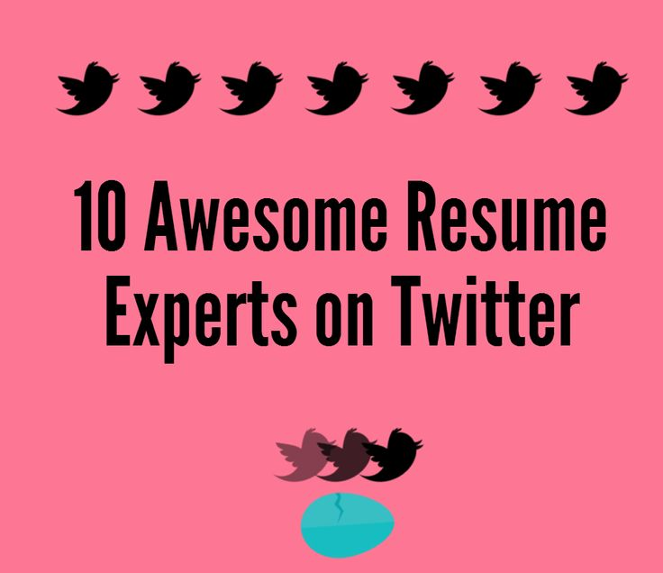 10 resume experts to follow on twitter