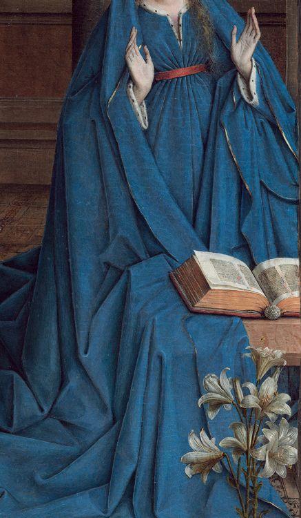 stephanievenerande:  Annonciation. À La Liliale. Jan van Eyck 1434