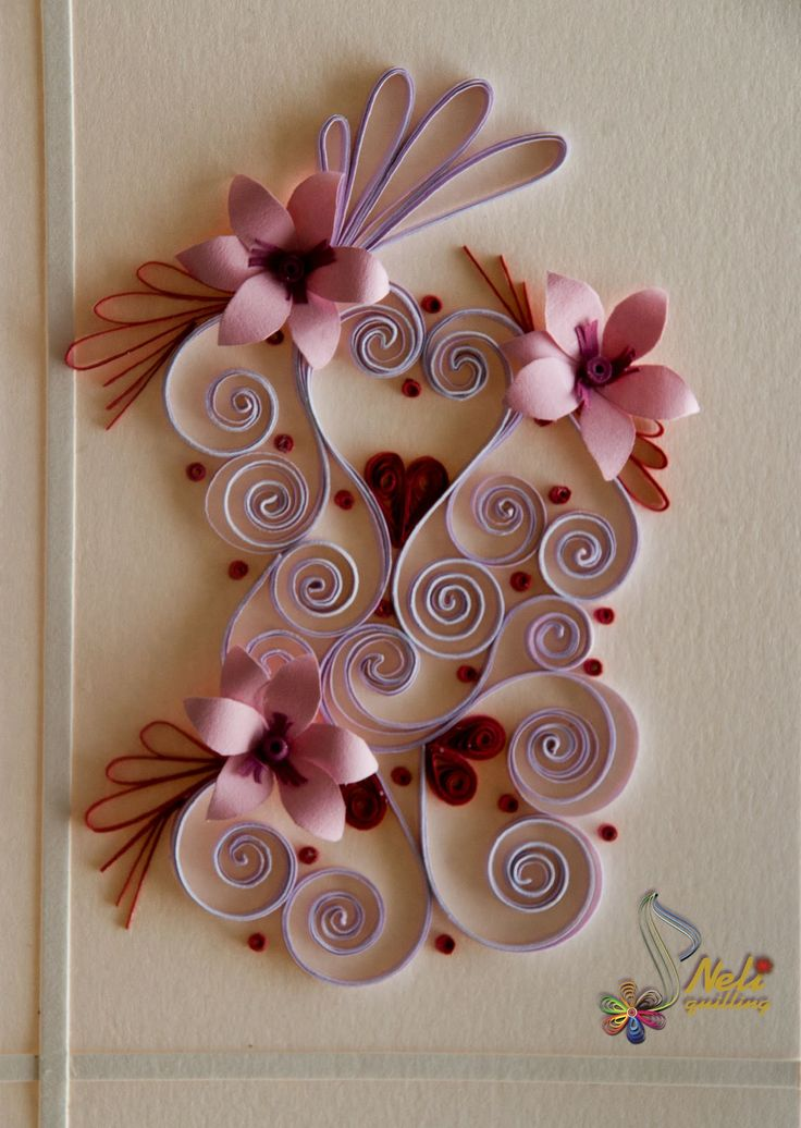 neli: Quilling cards - With love ... - 2