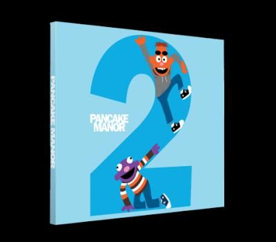 """Two CD: Pancake Manor! Zach and Reggie's second CD, """"Two,"""" contains more of the Pancake Manor sound that parents and kids both love! On this CD, you'll hear:  Pancake Party  Count To 10  The Planets  Superhero  1 + 1  Legs and Arms  The Seasons  Sports Balls  Names  Dogs  Wheels on the Bus  Birthday Song  Goldilocks  Bedtime Story"""