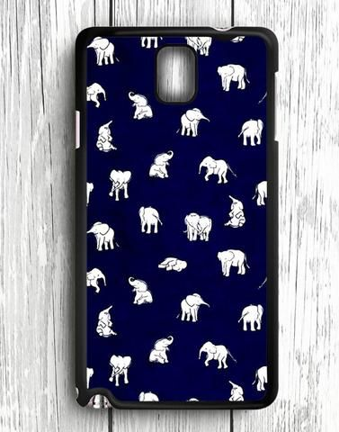 White Baby Elephant Pattern Samsung Galaxy Note 3 Case