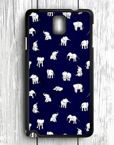 White Baby Elephant Pattern Samsung Galaxy Note 3 Case