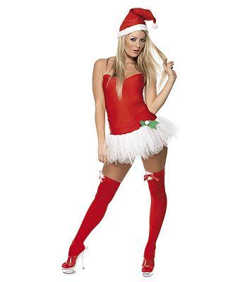 Sexy kerst outfit 3-delig. Deze sexy kerstjurkje bestaat uit het kerst jurkje, de tutu en de kerstmuts. One size, ongeveer maat S/M. Kerst kostuums bij Fun en Feest #kerstjurkjes