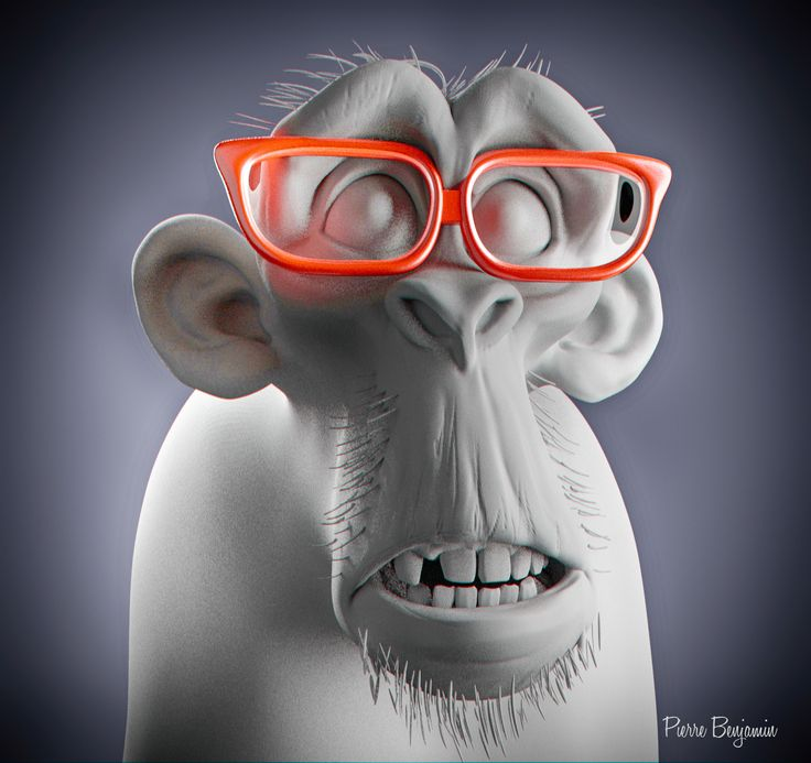 ArtStation - Monkey sculpt arnold render wip, Pierre Benjamin
