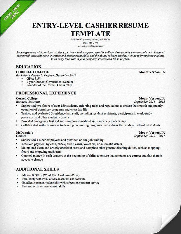 Cashier Skills For Resume Beautiful 19 Best Cashier Resume Sample Templates Wisestep Job Resume Samples Resume Examples Sample Resume