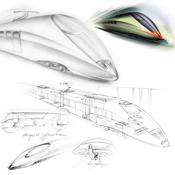 illustration train futuriste Florence Gendre #illustration #design #conceptcar