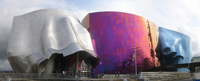 Experience Music Project in Seattle, Washington.   I love this place, it's so much fun inside. I want to go back.