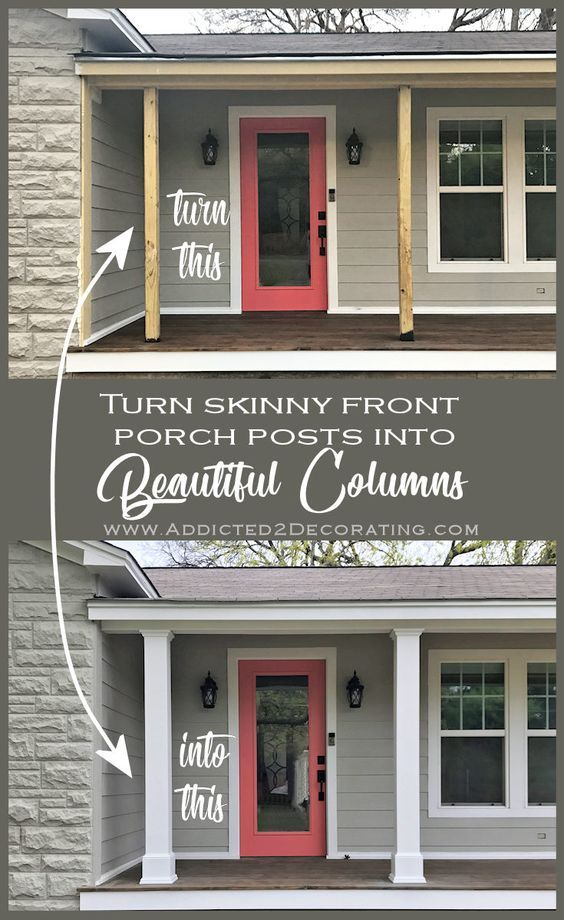 Finished Front Porch Columns (And A Few New Photos Of The Front Exterior