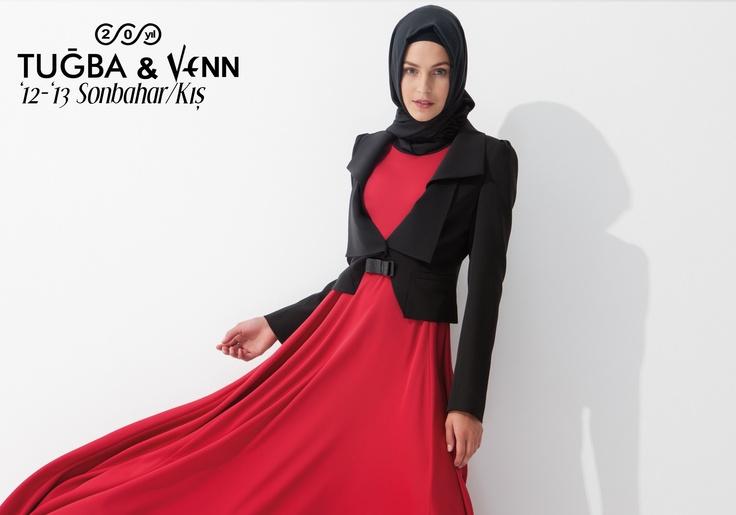 Tuğba & Venn '12-'13 Sonbahar/Kış. Hijab. Dress