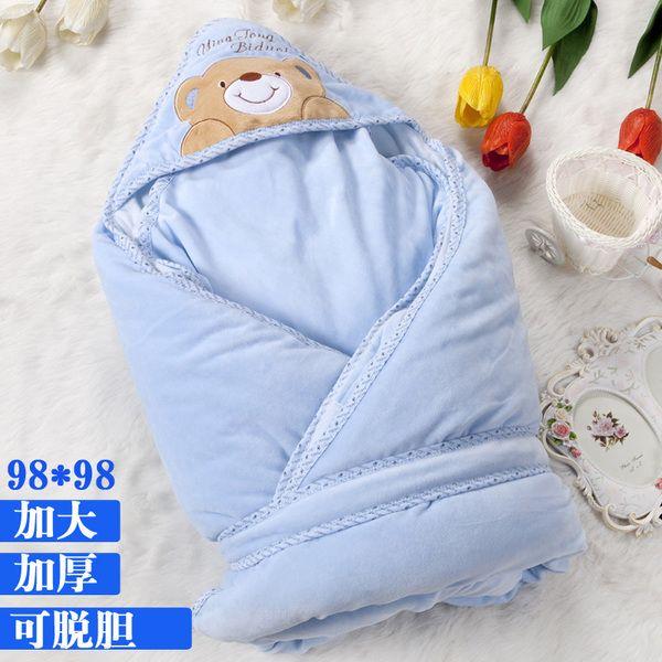 [Бесплатная доставка] новорожденный был кристалл кашемир одеяла толстые теплые осенние и зимние пальто с отстегивающимся желчи