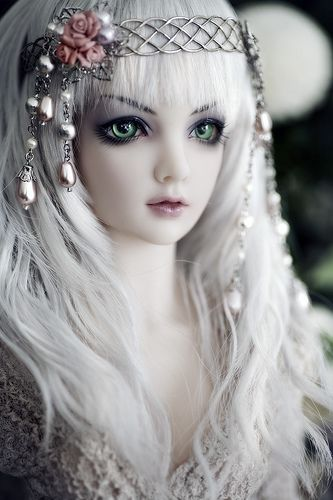 Wood Fairy (Justice, Limhwa Half-Elf): Fur Coats, Snow Queen, Ball Jointed Dolls, Hair Pieces, Cute Dolls, Beautiful Dolls, Dolls Faces, Green Eye, Art Dolls