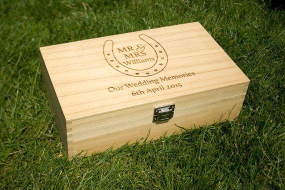 Personalised Wedding Keepsake Box by Bespoke Laser