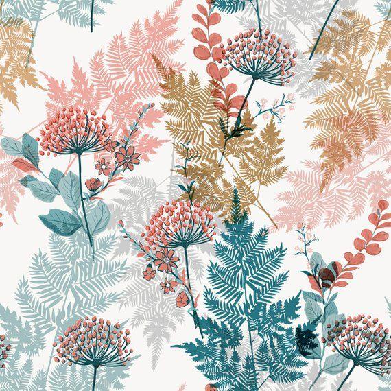 Garden Leaves Removable Wallpaper Mural Floral Peel Stick Etsy In 2021 Wallpaper Mural Wallpaper Mural
