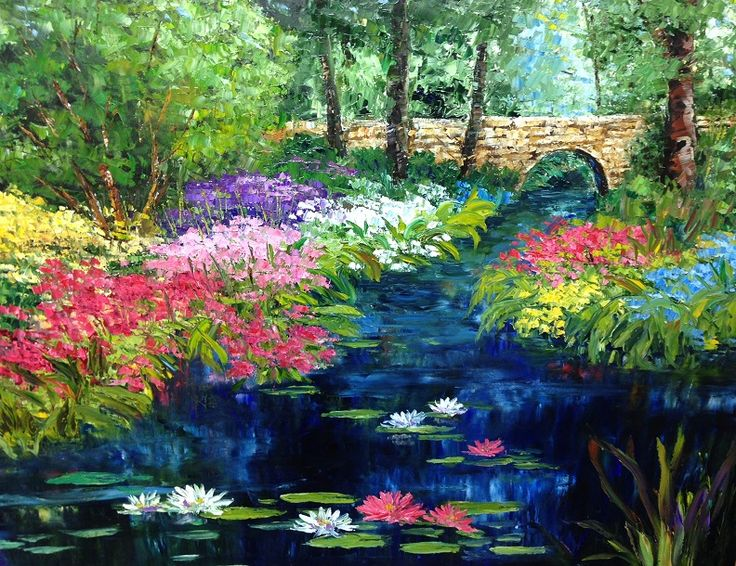 """Water Way"" by Artist Jan Guess; Oil on Canvas; 56""wide x 44""high (framed); Available at Filsinger Fine Art Gallery, Palm Desert, CA"
