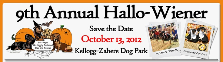 Annual Hallowiener fundraiser....  Las Vegas dachshund lovers ....please check out this awesome event, held annually to help raise funds for dachshund rescue.  Money raised is used to off-set costs of medical treatment and perform spaying/neutering of rescued dogs