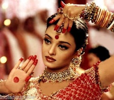 Alta Dye or Mahawar worn by dancer/actress Aishwarya Rai Bachchan (Film Devdas)