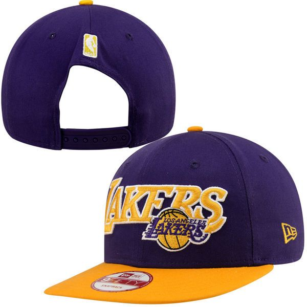 New Era Los Angeles Lakers Current Logo 9FIFTY Snapback Hat - Purple, Today's Sale Price: $13.99 -  You Save: $14.00