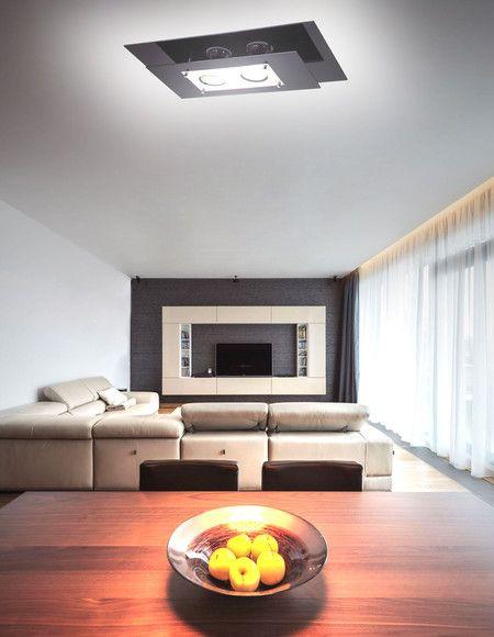 Plafon de Sobrepor Retangular Palladium - 1045 PT - Essa luminária é a campeã de vendas em nossa loja virtual! Com design diferenciado, excelente acabamento, super prática para trocar lâmpadas e manutenção. Ilumine-se!