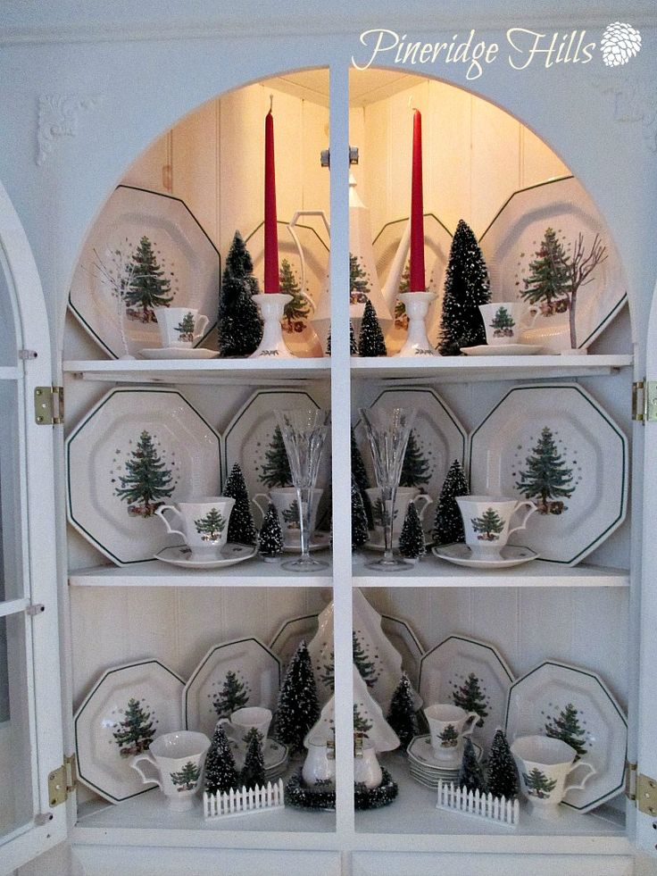 Christmas Decorations At Haskins : Ideas about china cabinet decor on