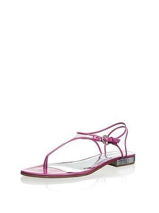 80% OFF Bernardo Women's Parker Triangle T-Strap Sandal (Pink)
