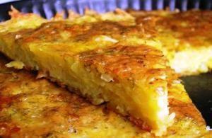 Запеканка из картофеля с чесноком и сыром